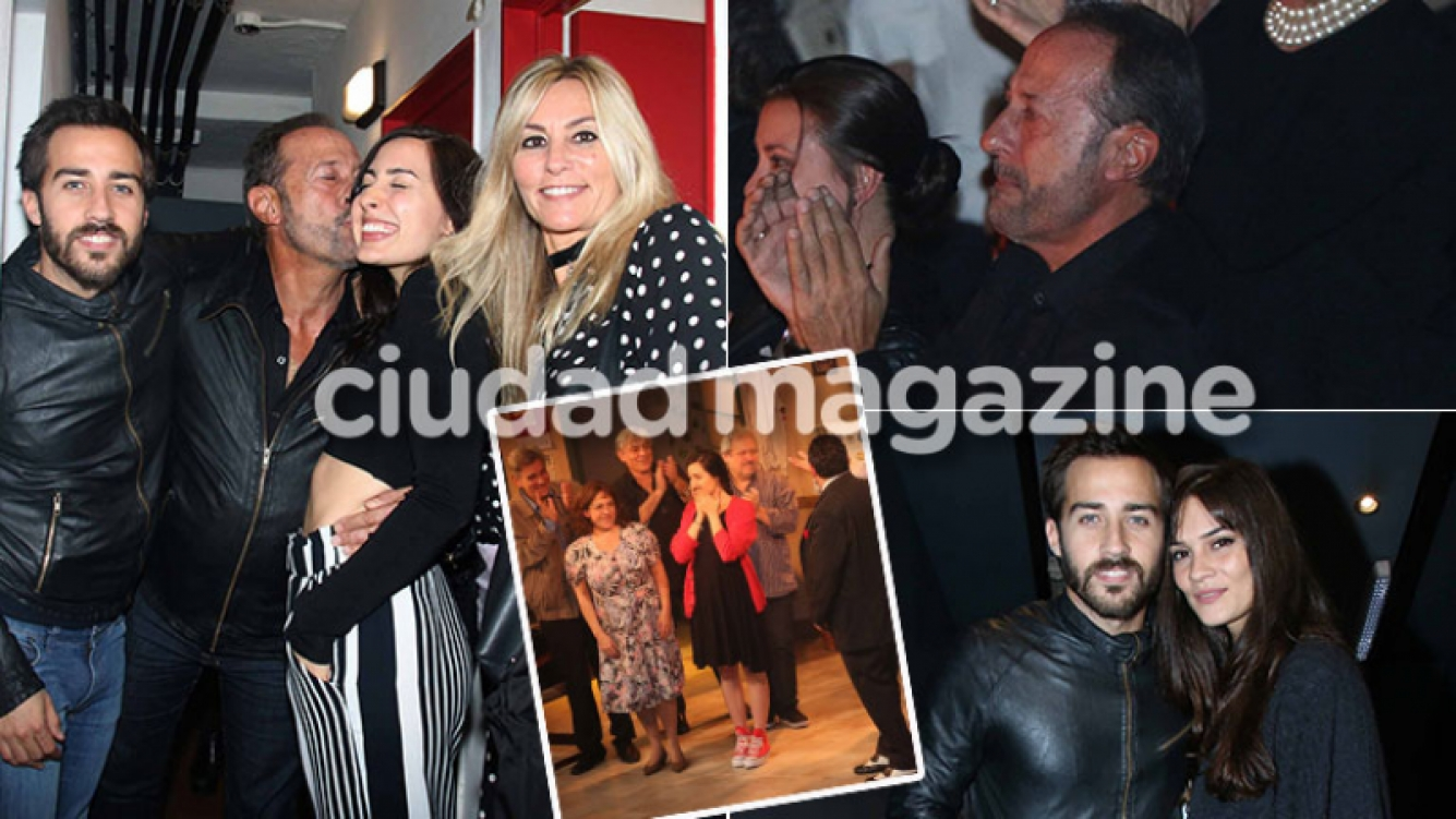 Guillermo Francella a pura emoción en el debut teatral de su hija