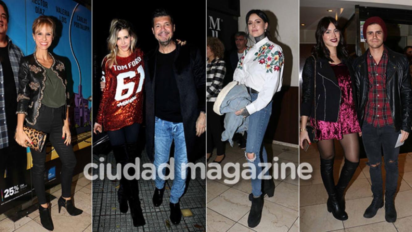 Marcelo y Candelaria Tinelli, Mariana Fabbiani y muchos más en la obra de Guillermina Valdés. (Foto: Movilpress)