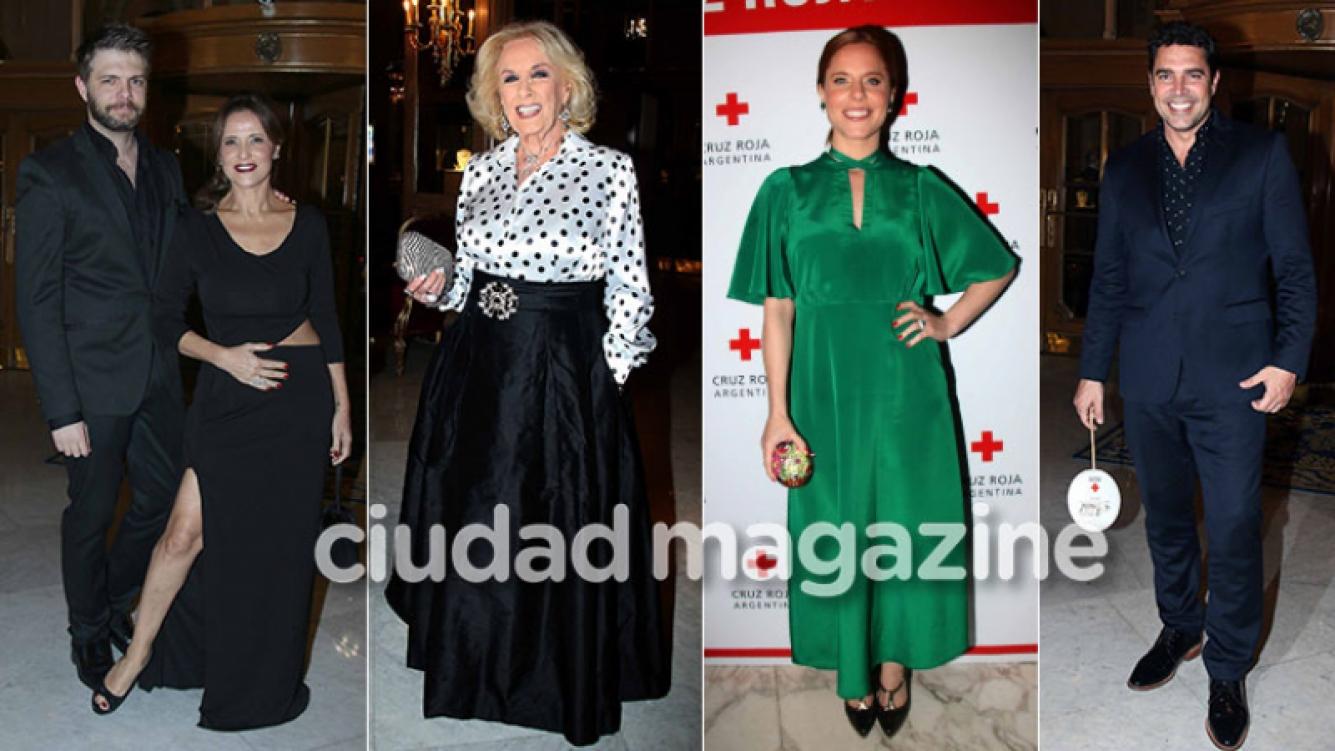 ¡Famosos solidarios! Noche de estrellas y diosas embarazadas en la gala de la Cruz Roja Argentina. (Foto: Movilpress)