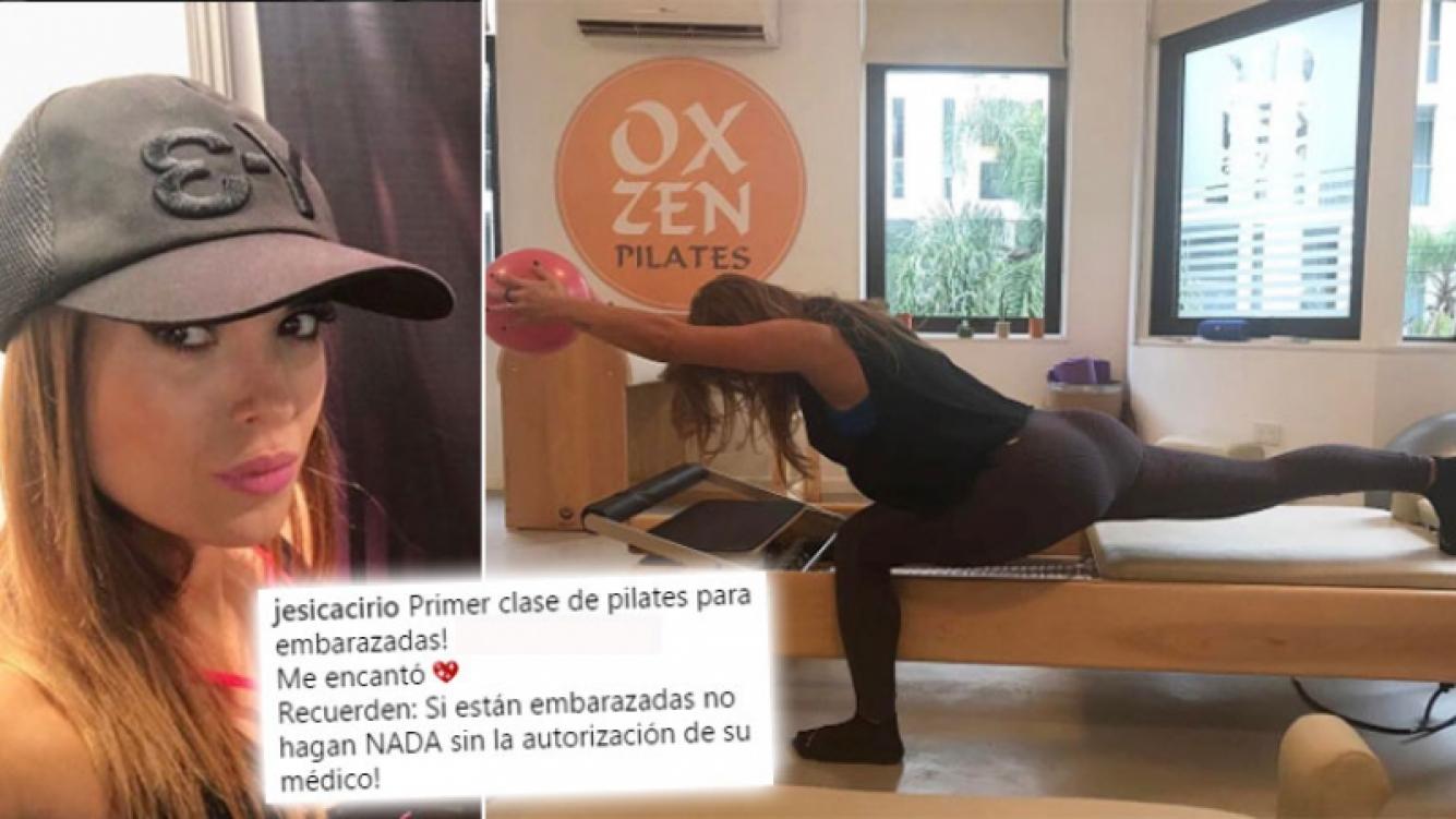 Jésica Cirio y la foto de su rutina fit para embarazadas que dividió las aguas 2.0