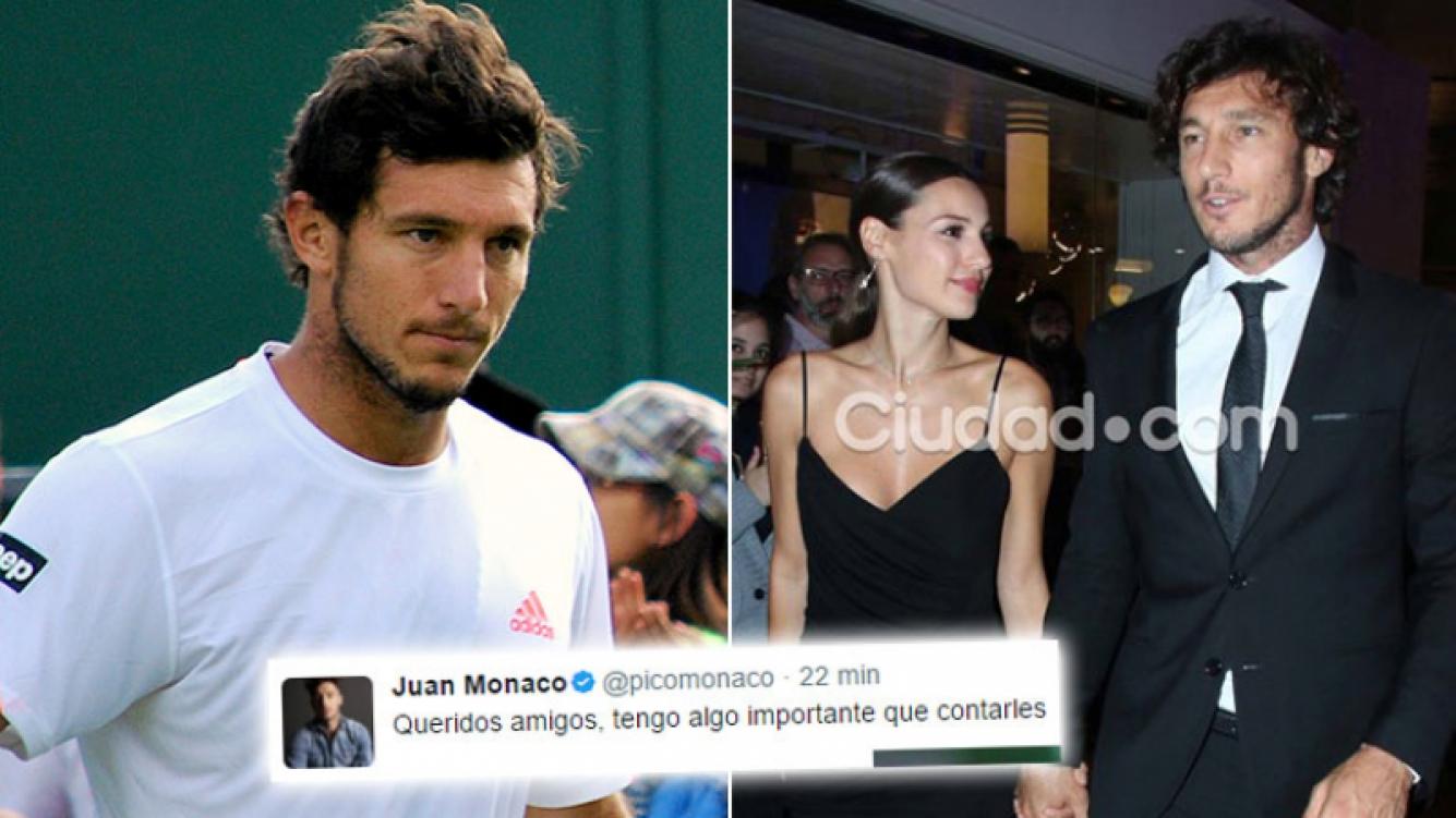 Pico Mónaco se retira del tenis profesional ¿por amor a Pampita? (Foto: Twitter y Ciudad Magazine)