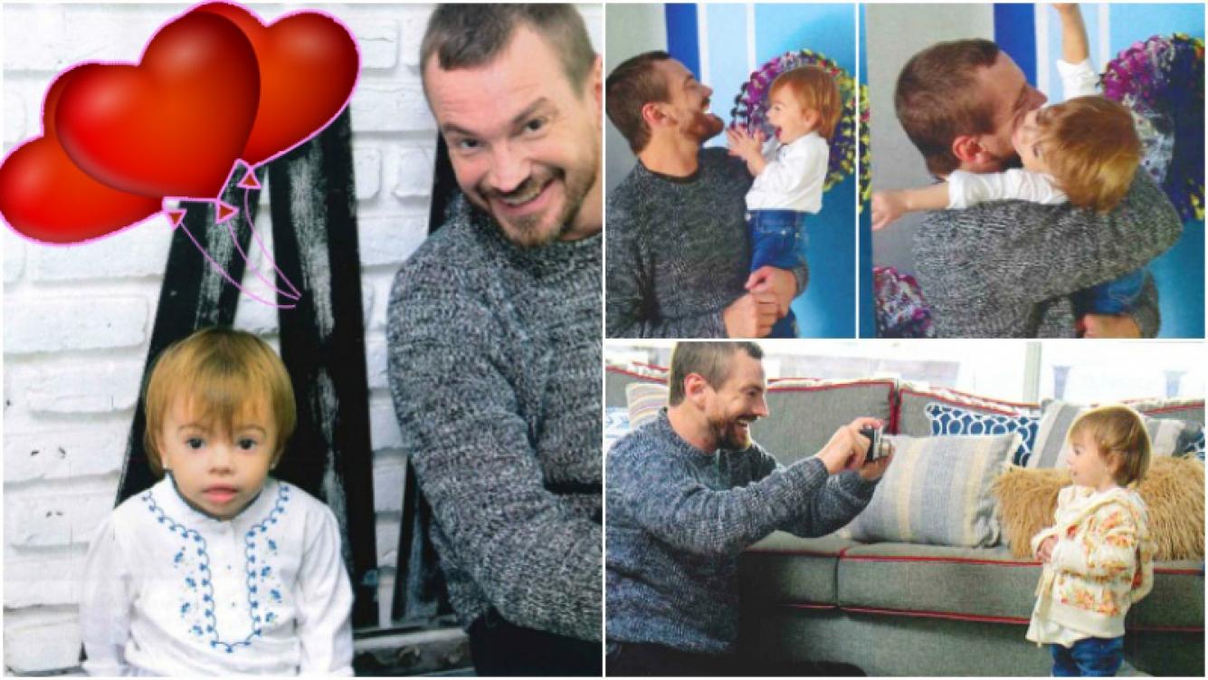 Guillermo Pfening posó por primera vez con su hija Asia (Fotos: revista Gente)