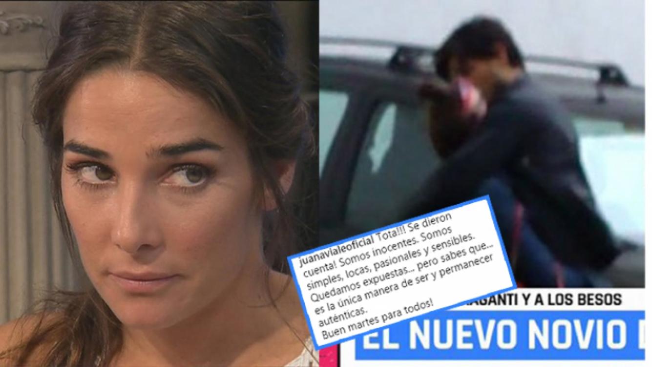 Juana Viale se refirió a sus imágenes a los besos (Capturas de TV).