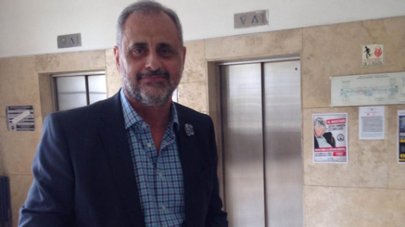 Jorge Rial, internado en el Sanatorio de la Trinidad.