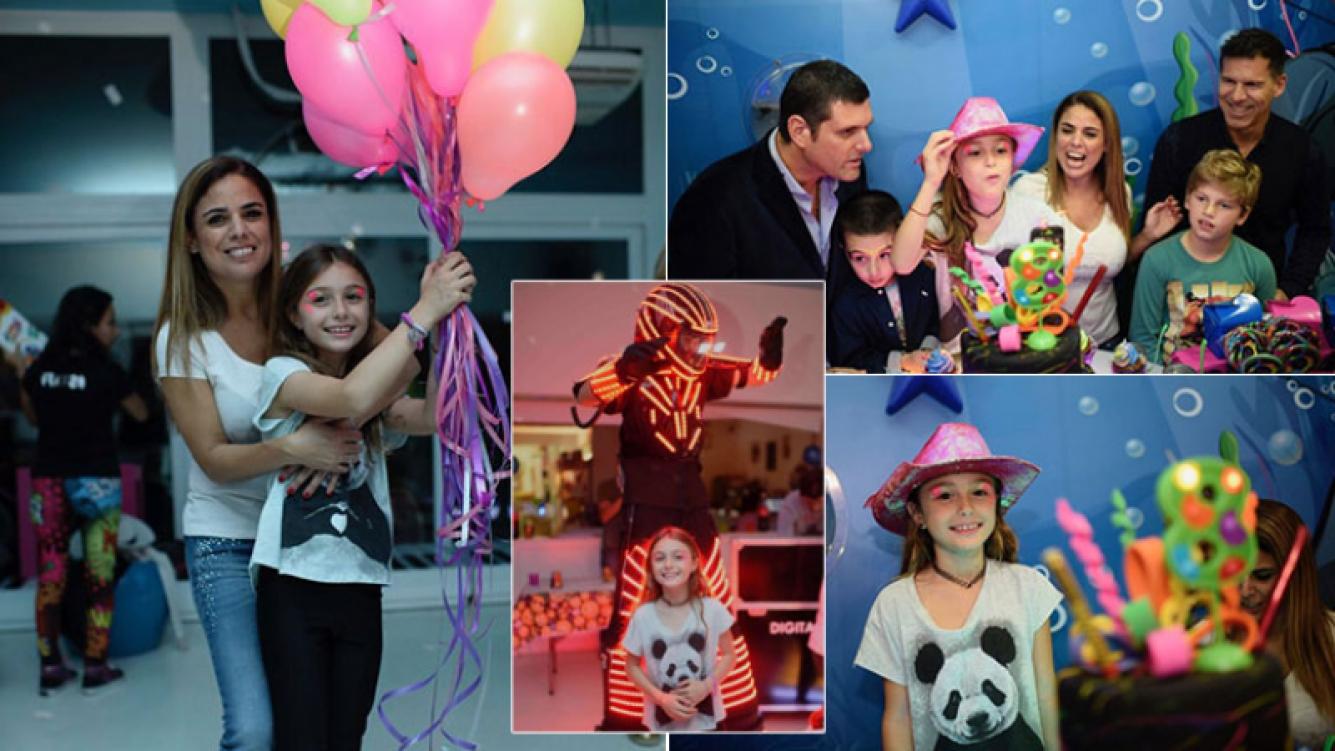 El mega cumpleaños de Mía, la hija de Marina Calabró