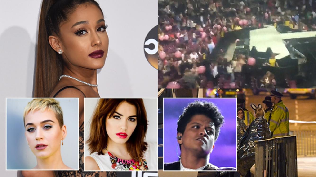 Ariana Grande y muchos famosos se expresaron tras el ataque (Fotos: AFP).
