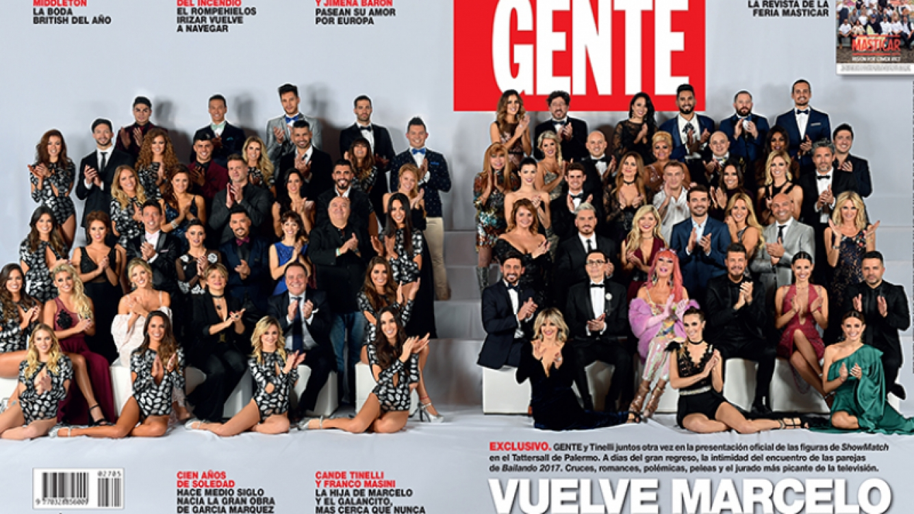 La esperada tapa de Bailando 2017  (Fotos: Revista Gente).