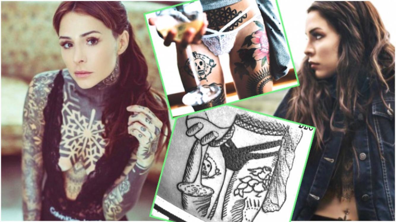 La reacción de Candelaria Tinelli al ver que un fan se tatuó su cuerpo en ropa interior (Fotos: Instagram)