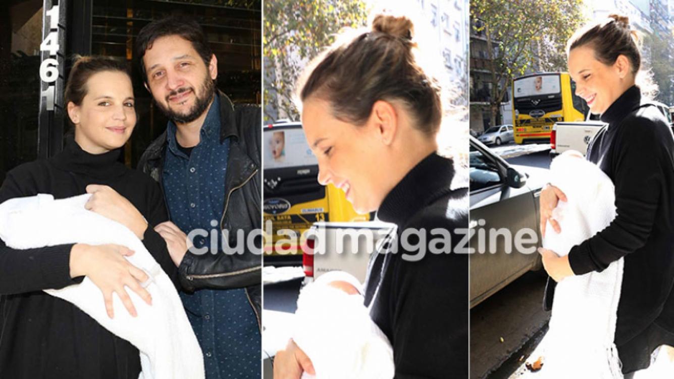 Las primeras fotos de Sabrina Garciarena y Germán Paoloski junto a su bebé (Foto: Movilpress)
