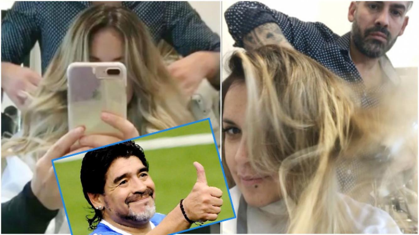 El cambio de look de Verónica Ojeda... ¿dedicado a Diego Maradona? (Fotos: Captura de Intagram)