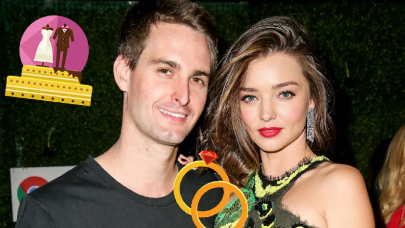 La top model Miranda Kerr se casó con el fundador de Snapchat.