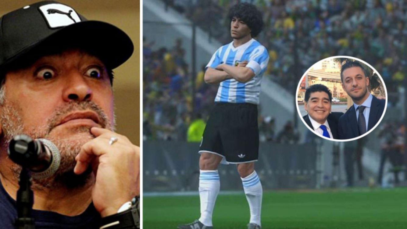Maradona firmó un acuerdo millonario con la empresa Konami.