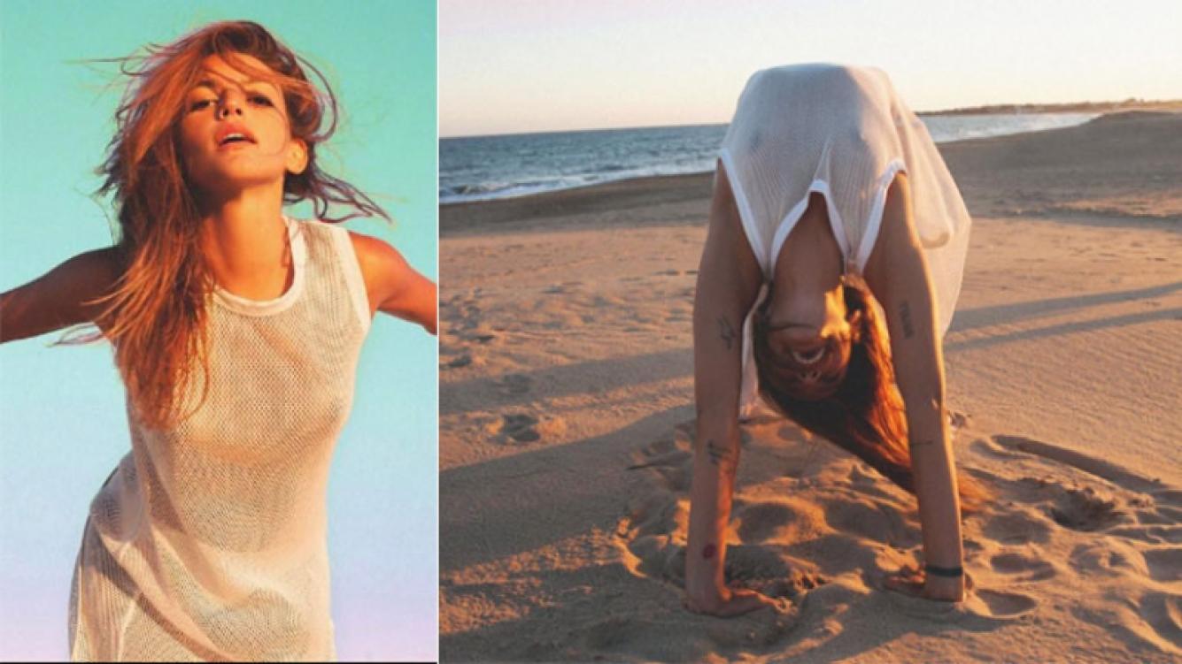 La clase de yoga sexy de Calu Rivero en la playa (Foto: Instagram)