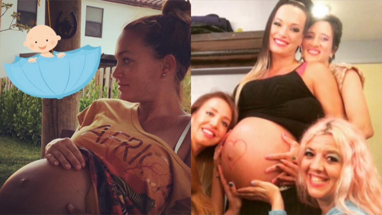 Claudia Albertario y su súper pancita de embarazada (Fotos: Instagram).