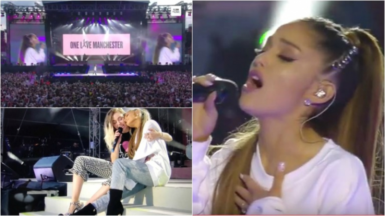 Ariana Grande regresó a Manchester para un recital benéfico a 13 días del atentado. Foto: Captura