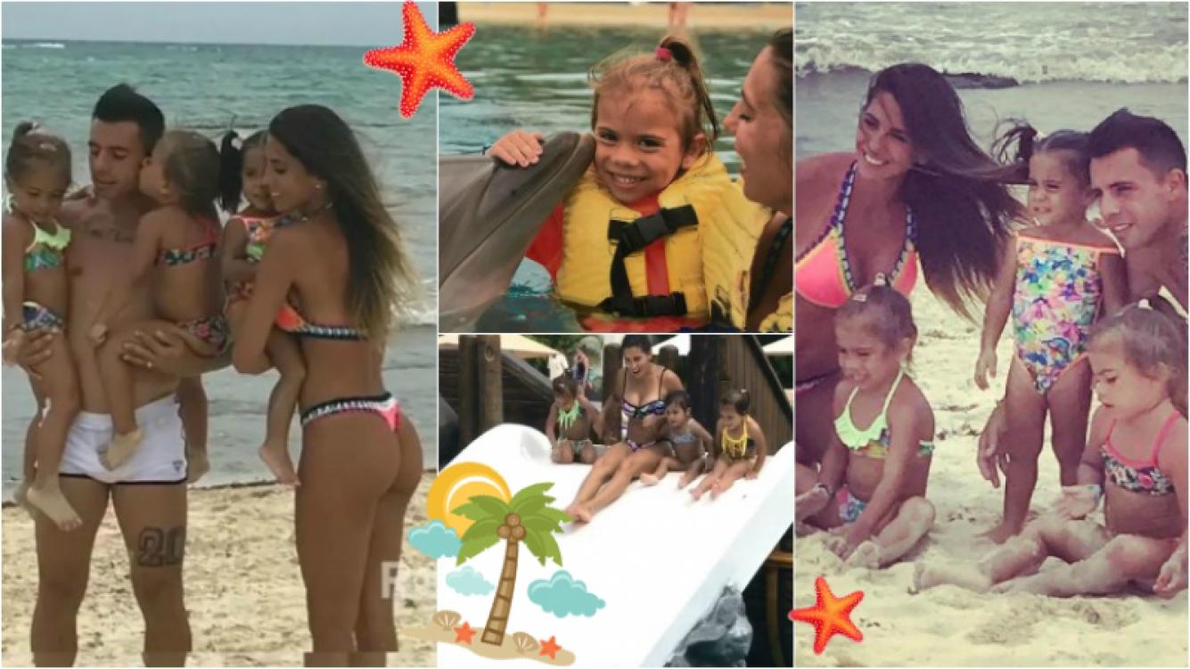 El álbum de fotos de Cinthia Fernández en Playa del Carmen en sus primeras vacaciones en familia. Foto: Instagram