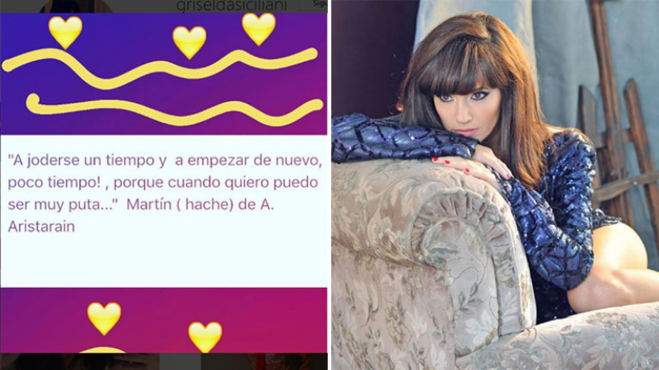 Griselda Siciliani y la escena de Martín (hache) que rememoró en Instagram. (Foto: Instagram)