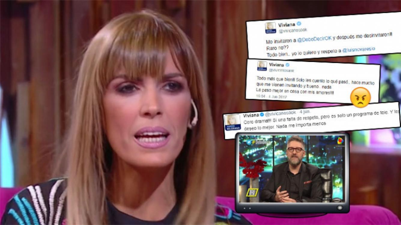 Viviana Canosa, enojada tras ser bajada del programa de Luis Novaresio