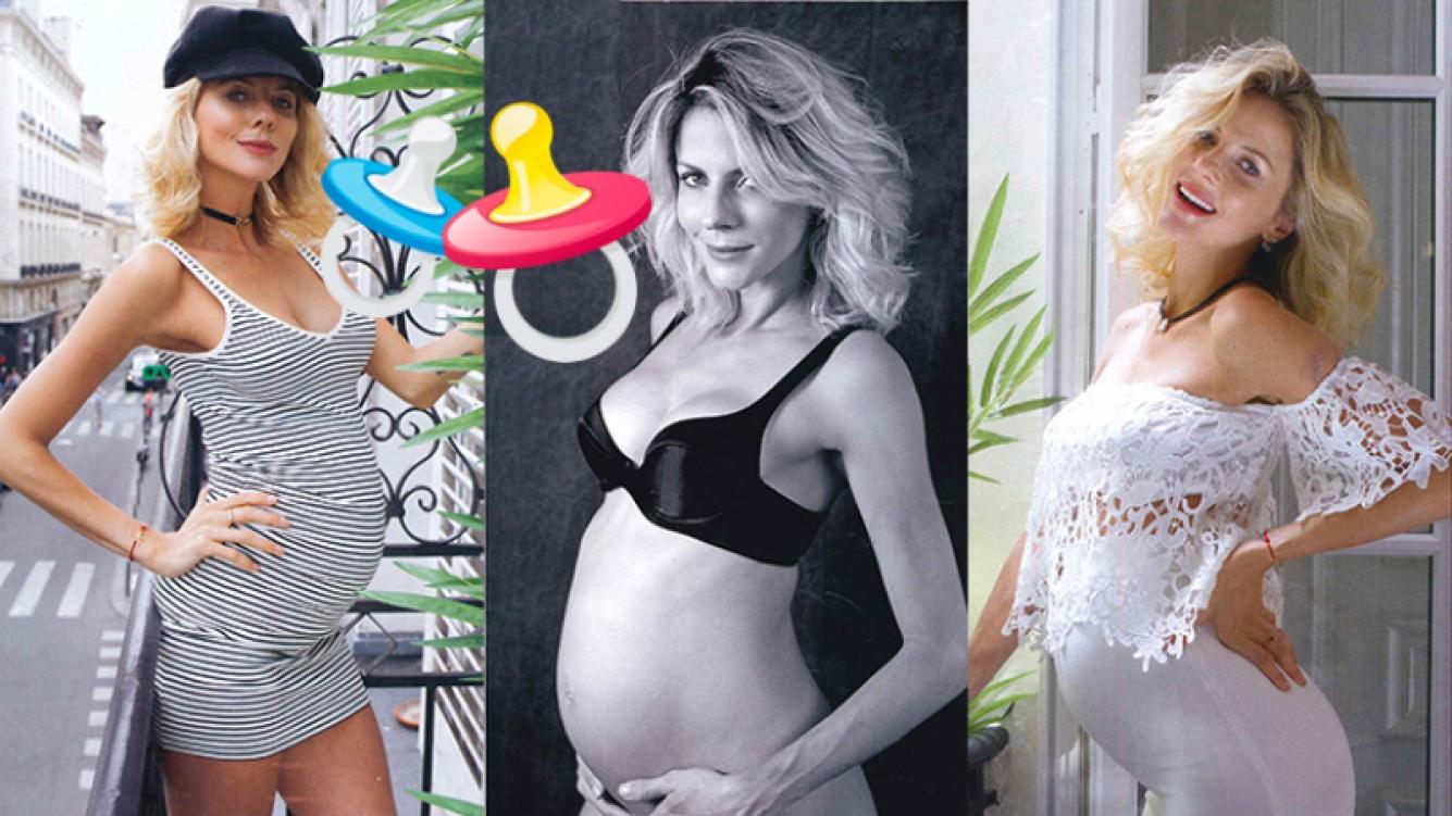 Jimena Buttigliengo, feliz y embarazada de mellizos (Fotos: Revista Caras).