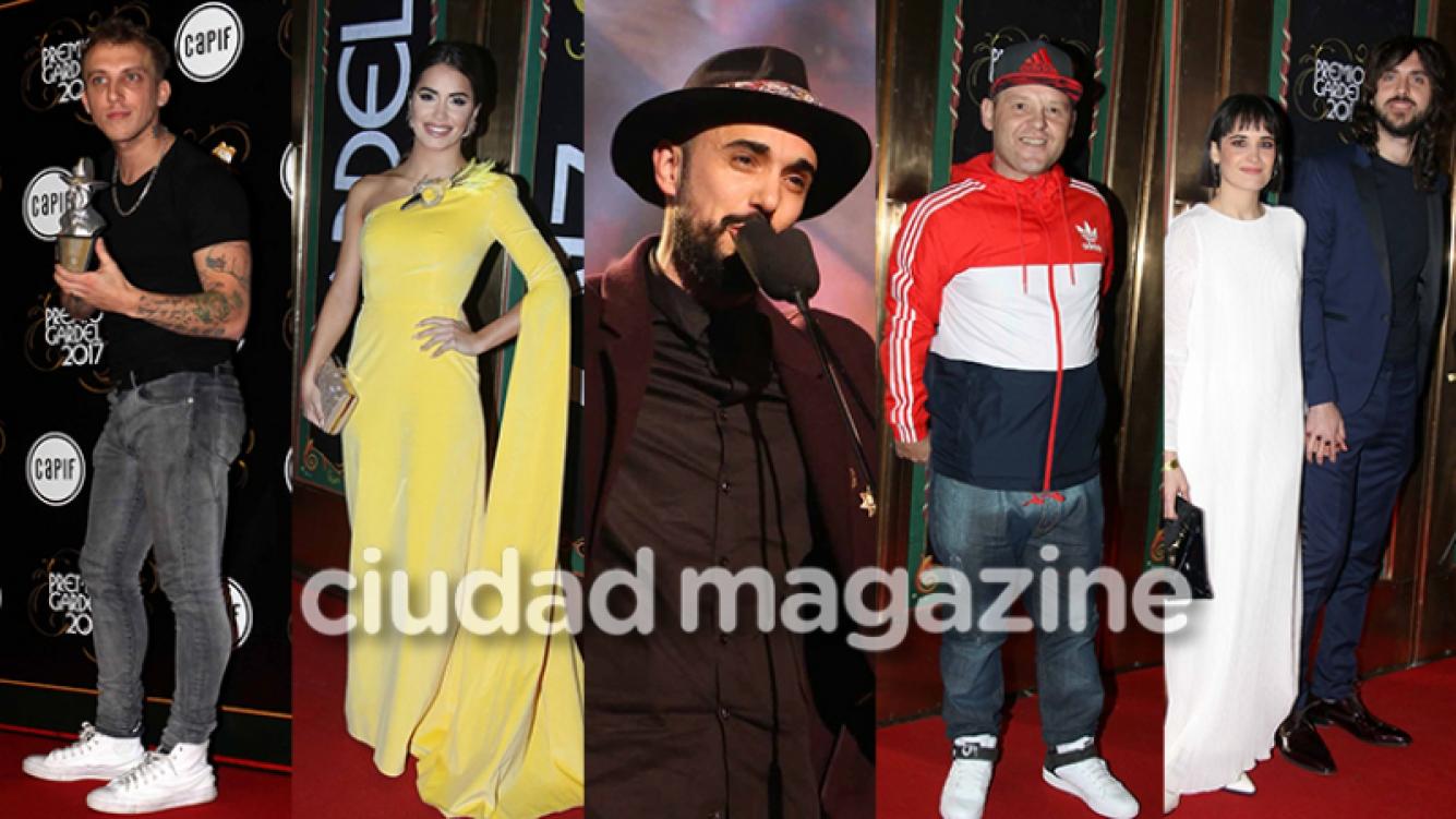 Las mejores fotos de los Premios Gardel  (Fotos: Movilpress).