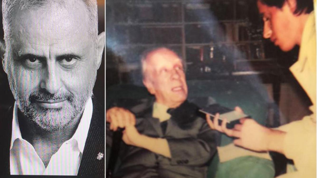 Jorge Rial celebró el Día del Periodista con una foto de su entrevista a Borges. (Foto: Instagram)