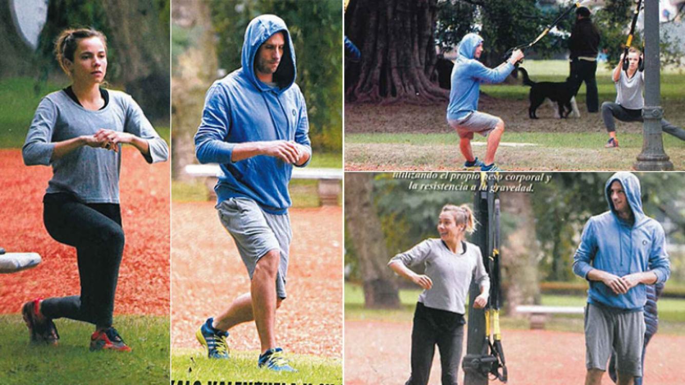 La rutina fitness de Gonzalo Valenzuela junto a su novia, María Gracia Omegna (Foto: revista Pronto)
