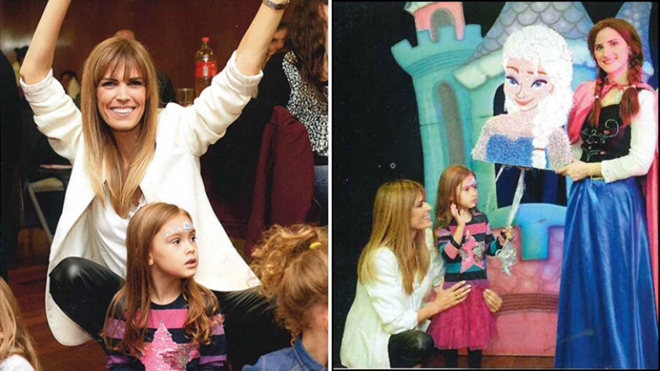 Viviana Canosa le organizó una súper fiesta de cumpleaños a Martina, la hija que tuvo con Alejandro Borenztein. Foto: Revista Caras.