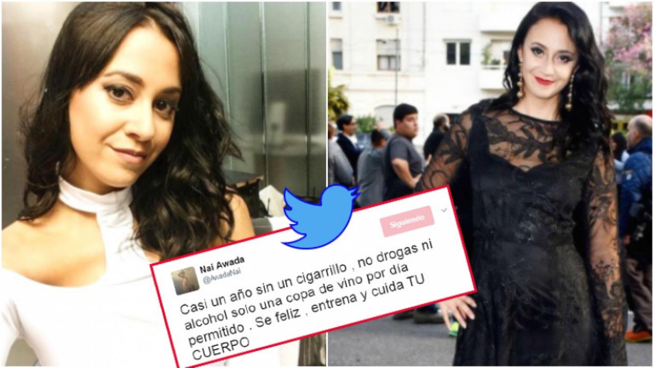 """El mensaje de Nai Awada en Twitter tras estar """"casi un año sin cigarrillo"""" (Fotos: Instagram)"""