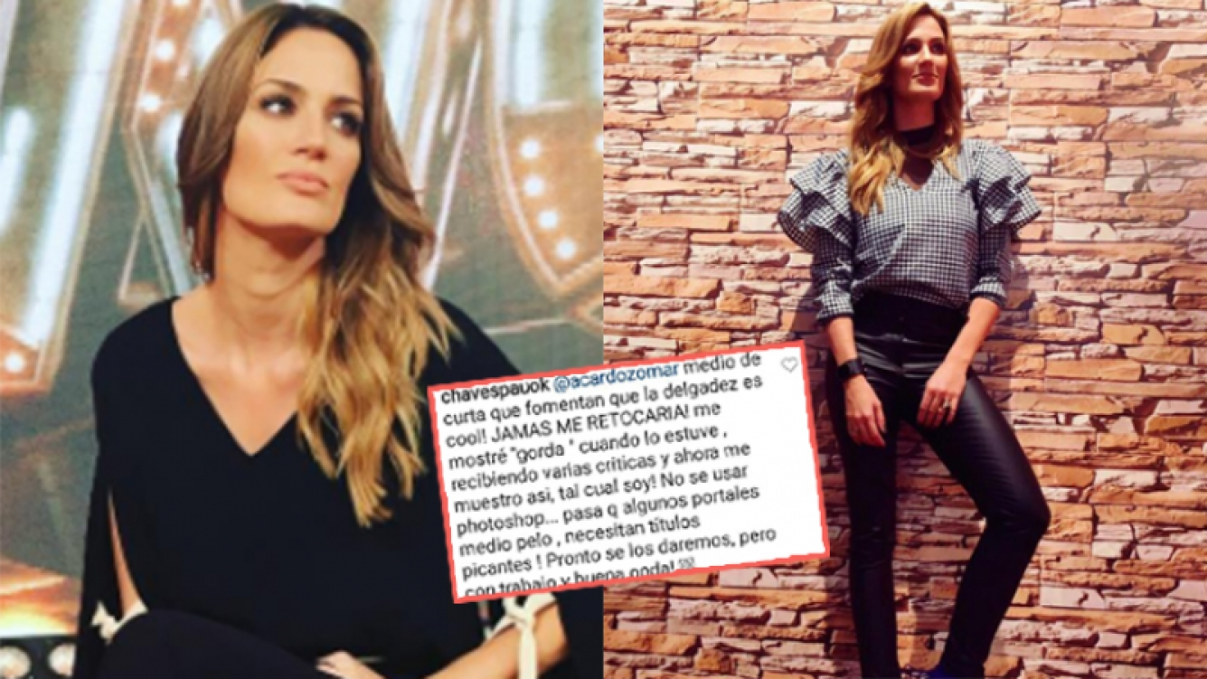 Paula Chaves se defendió de las especulaciones (Fotos: Instagram).