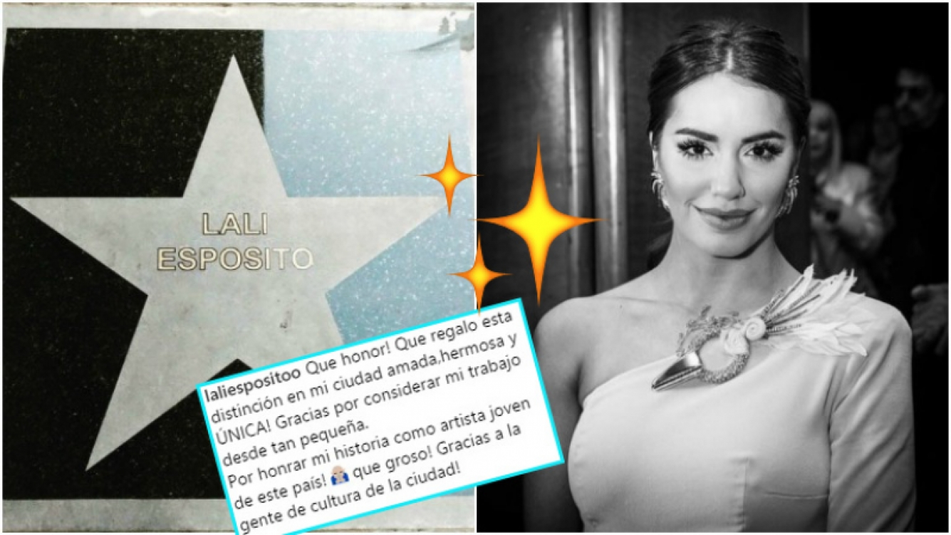 Lali Espósito tiene su estrella de la fama