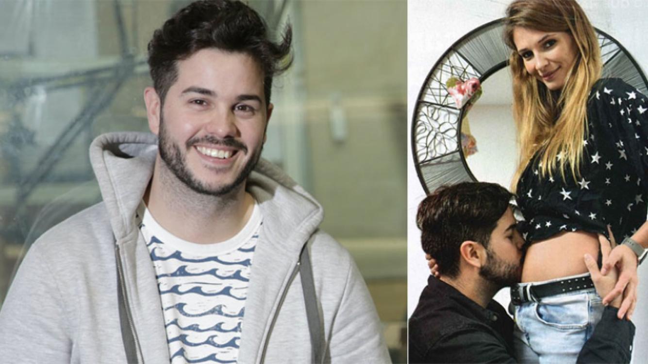 La felicidad de Nicolás Magaldi en su primer Día del Padre