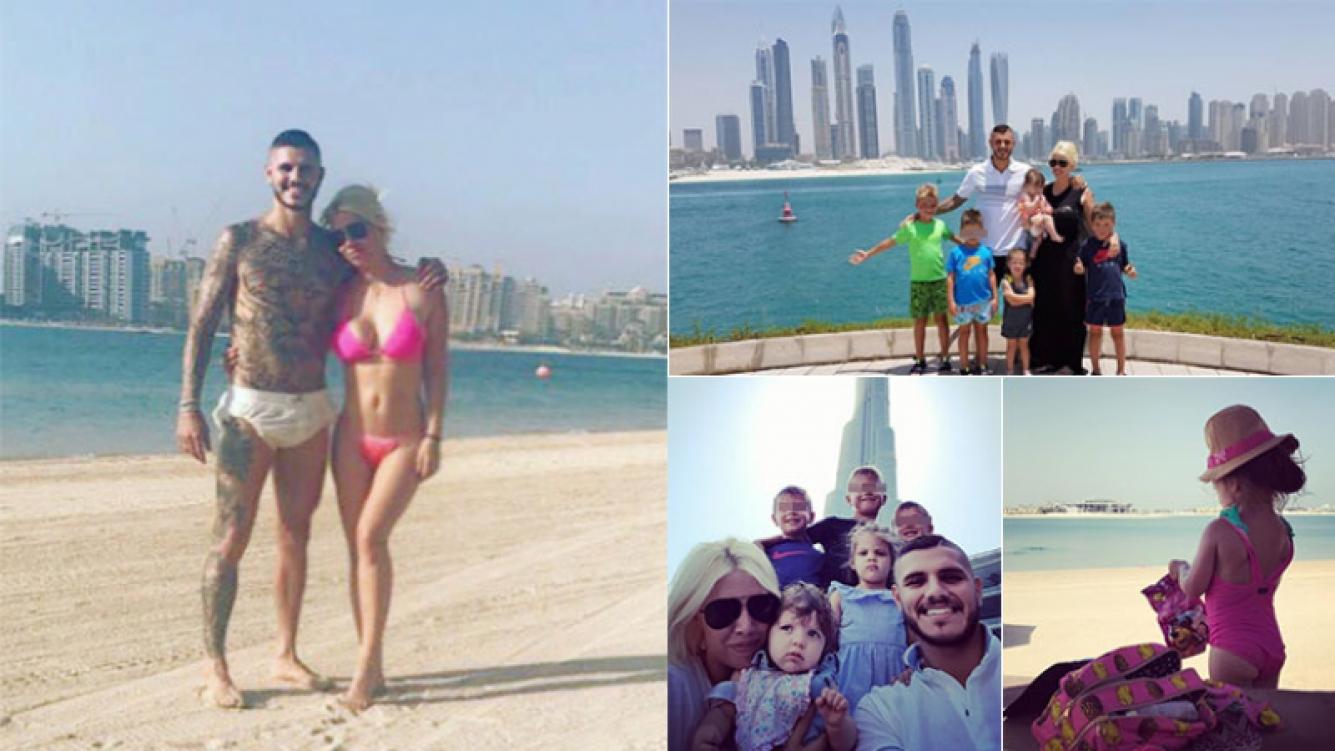 Las lujosas vacaciones familiares de Wanda Nara y Mauro Icardi en Dubai