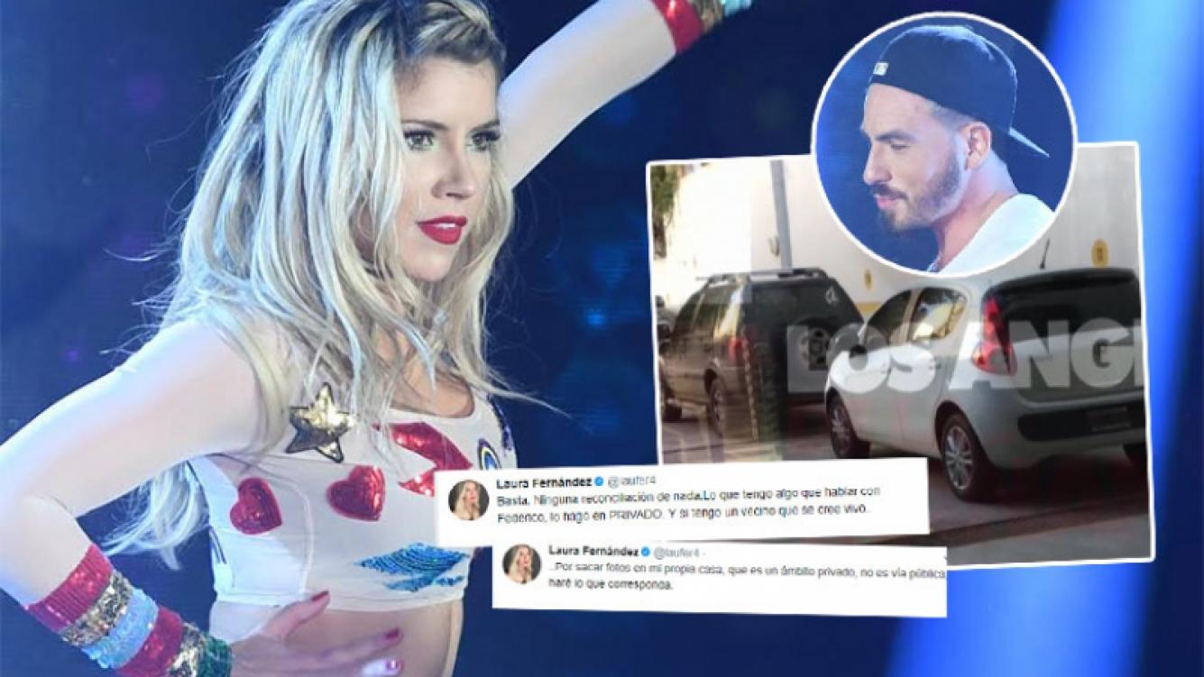 El enojo de Laurita tras la difusión de una imagen de Fede Bal en su casa (Foto: Ideas del Sur y Twitter)