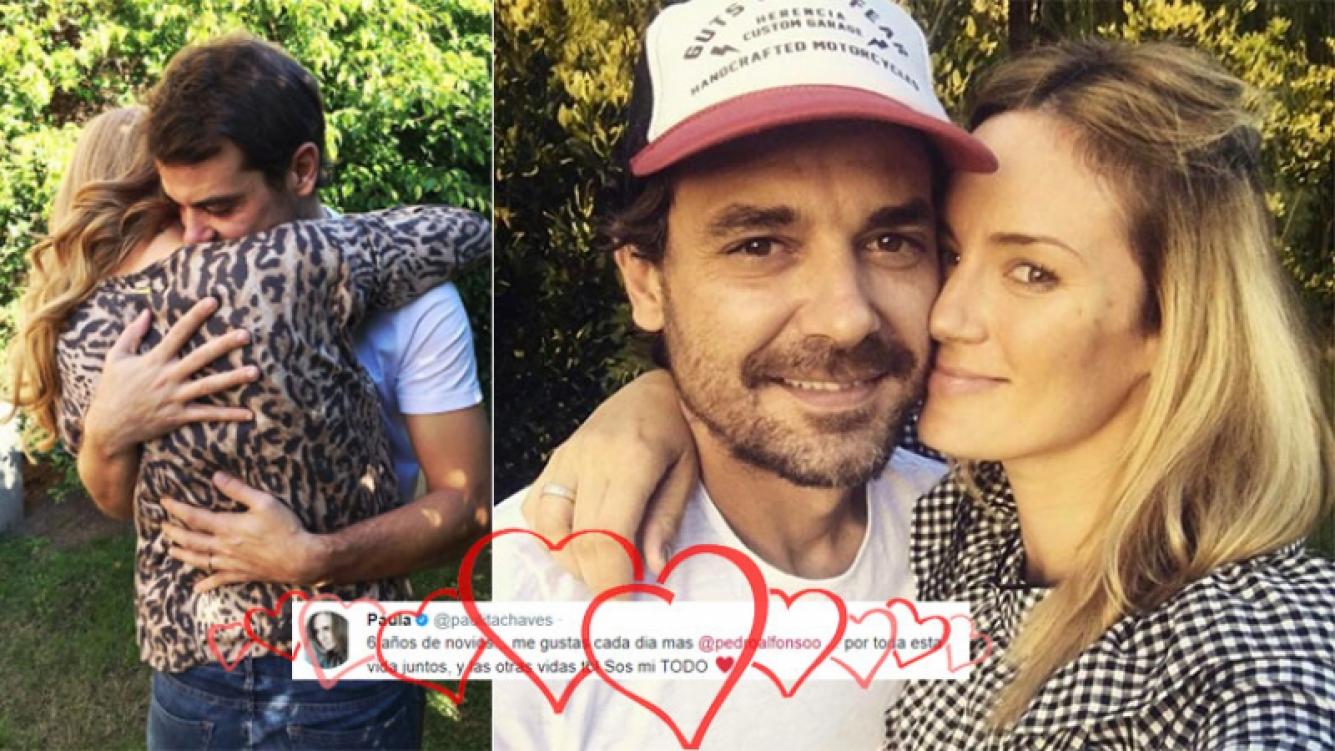 El romántico tweet de Paula Chaves a Pedro Alfonso