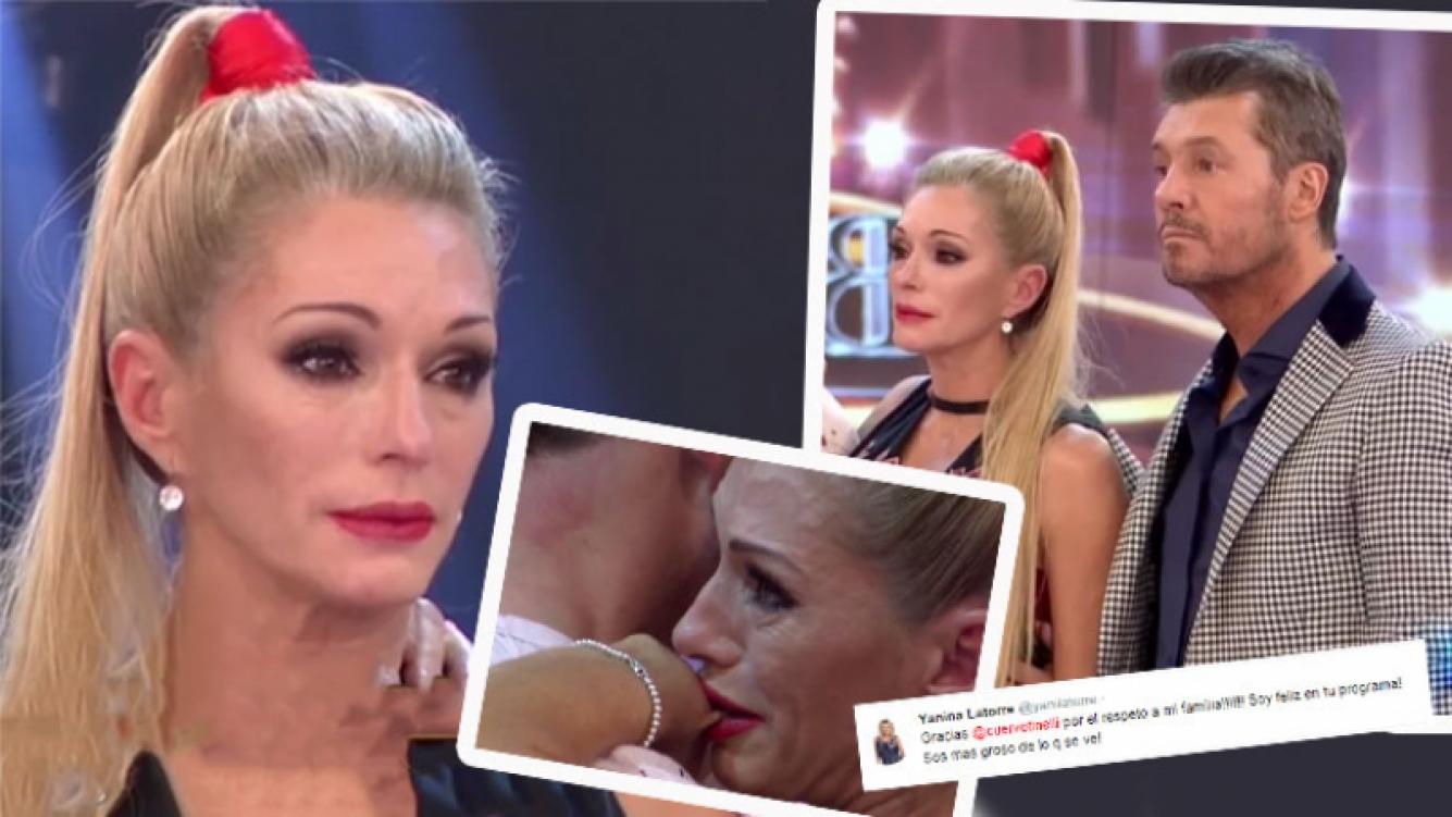 El tweet de Yanina Latorre a Tinelli luego de romper en llanto en el Bailando