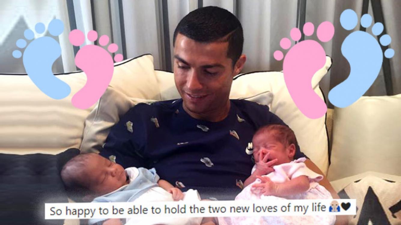Cristiano Ronaldo presentó a sus gemelos
