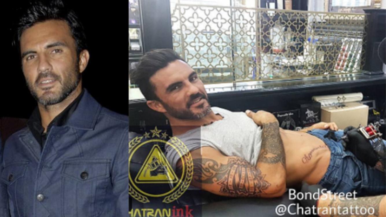 Fabián Cubero mostró sus dos nuevos tatuajes.