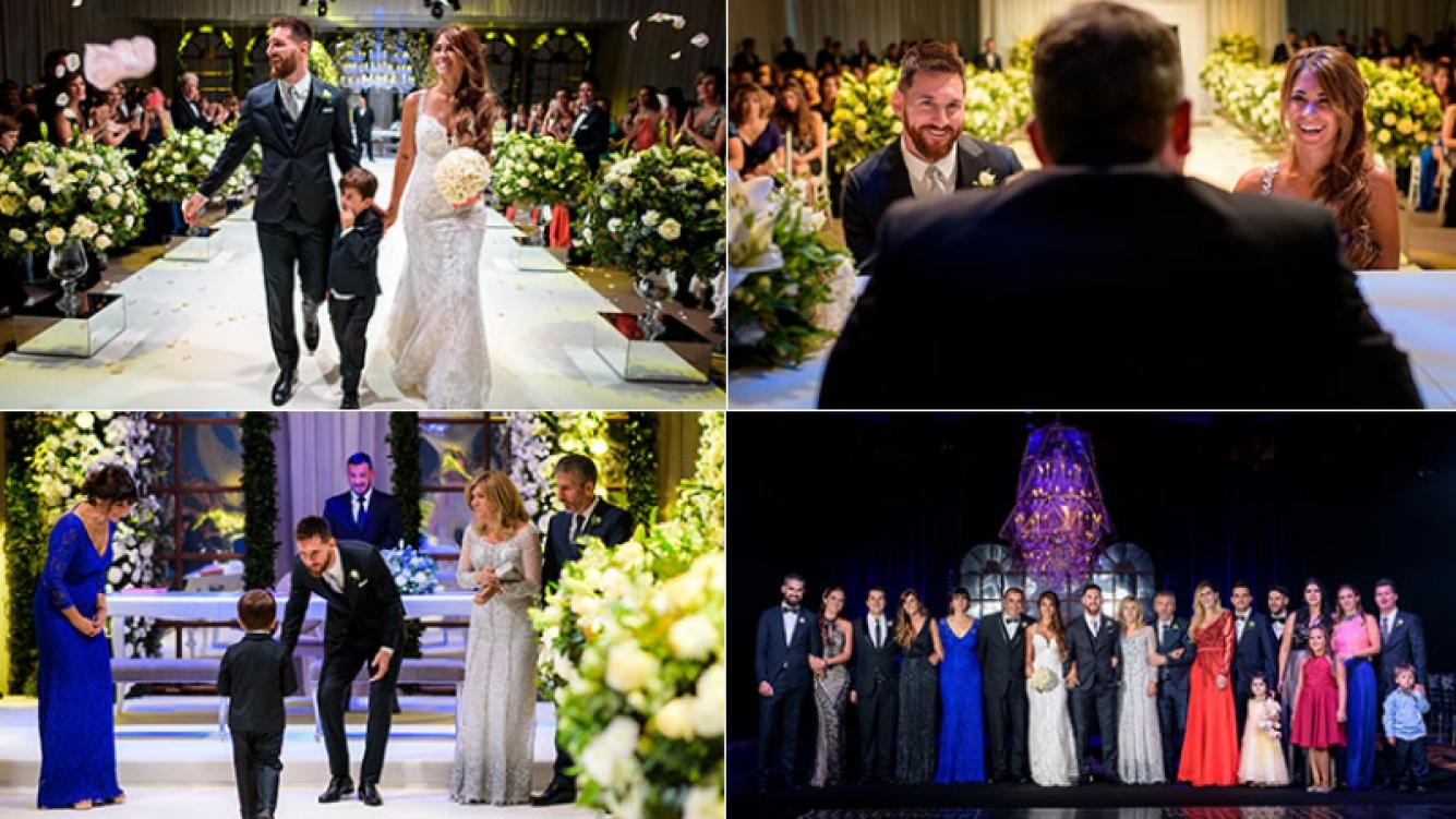 El álbum íntimo del casamiento de Lionel Messi y Antonela Roccuzzo en Rosario (Foto: Andrés Preumayr)