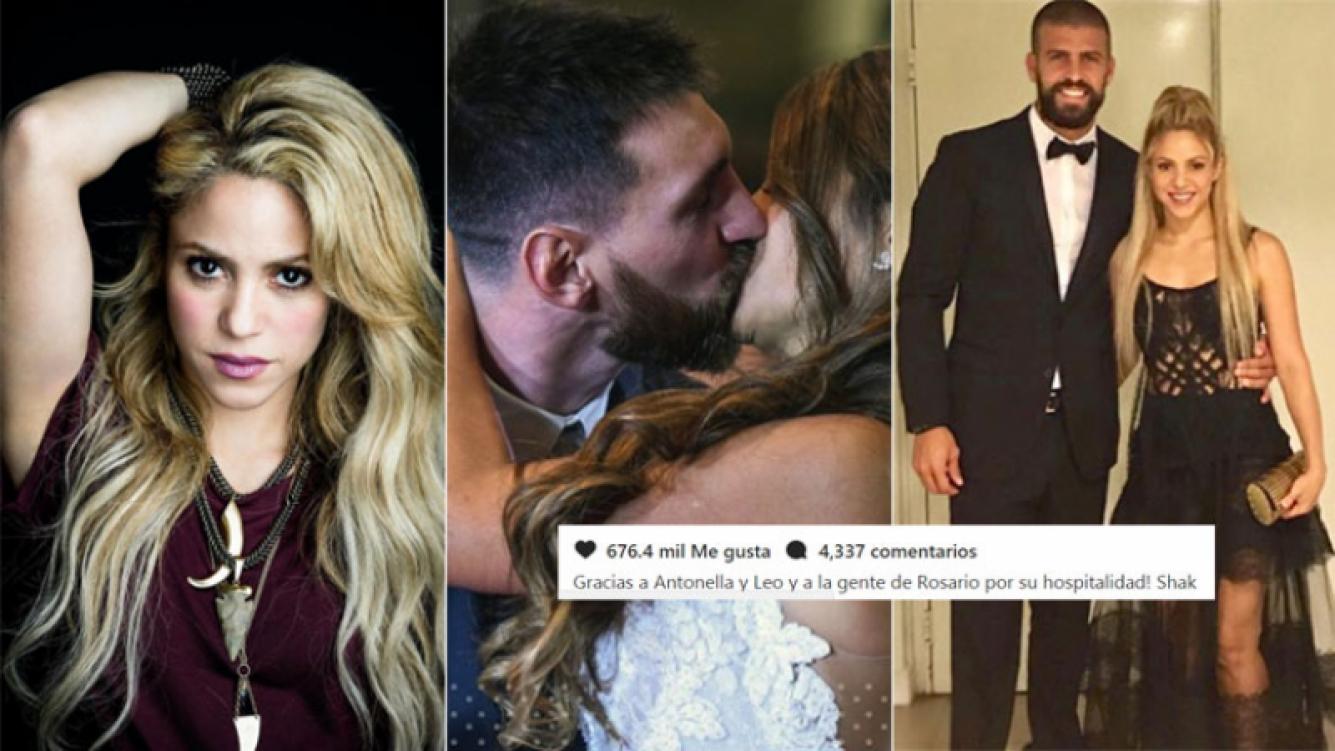 El mensaje de Shakira tras la boda de Messi y Roccuzzo (Foto: Instagram y AFP)