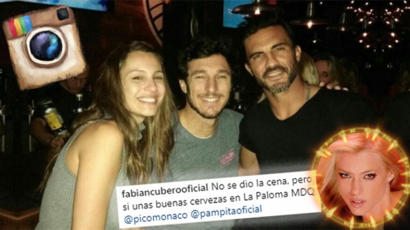 ¿Palito para Nicole? El encuentro de Cubero con Pampita y Pico Mónaco, en la noche marplatense.