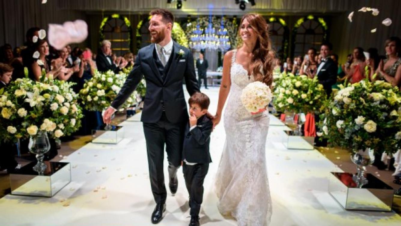 Los zapatos exclusivos que usó Antonela Roccuzzo en su boda.