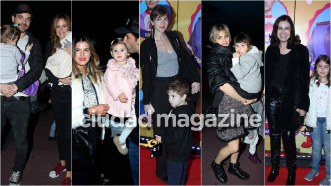 Los famosos dijeron presente con sus hijos y sobrinos en el nuevo espectáculo de Topa. Foto: Movilpress