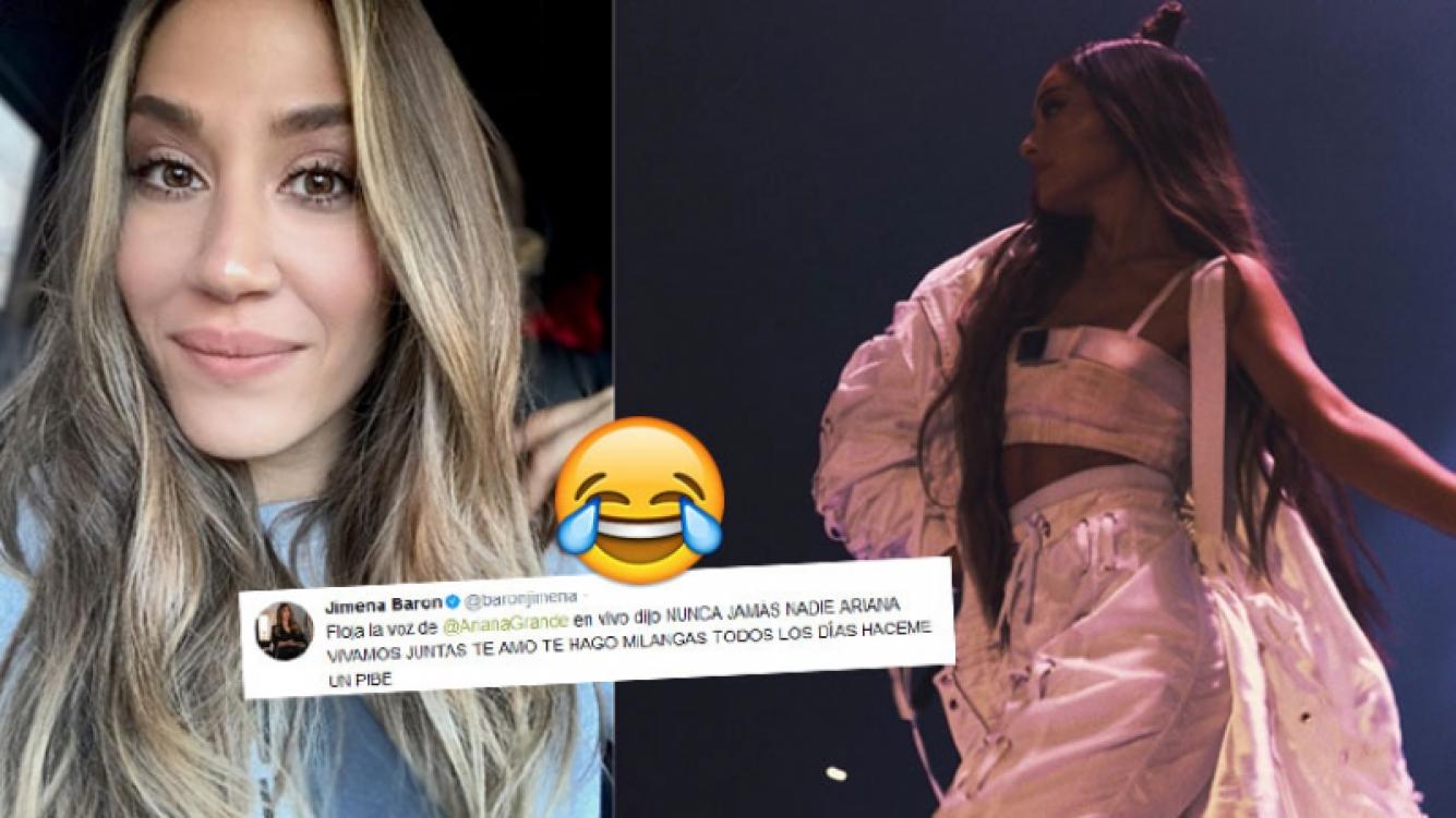 Jimena Barón fue al show de Ariana Grande
