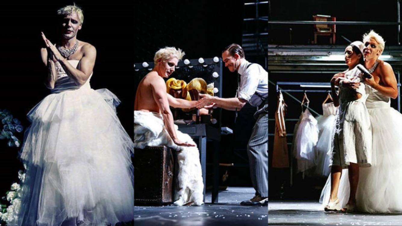 La transformación de Benjamín Vicuña para interpretar a Eva Perón en el teatro (Foto: Instagram)