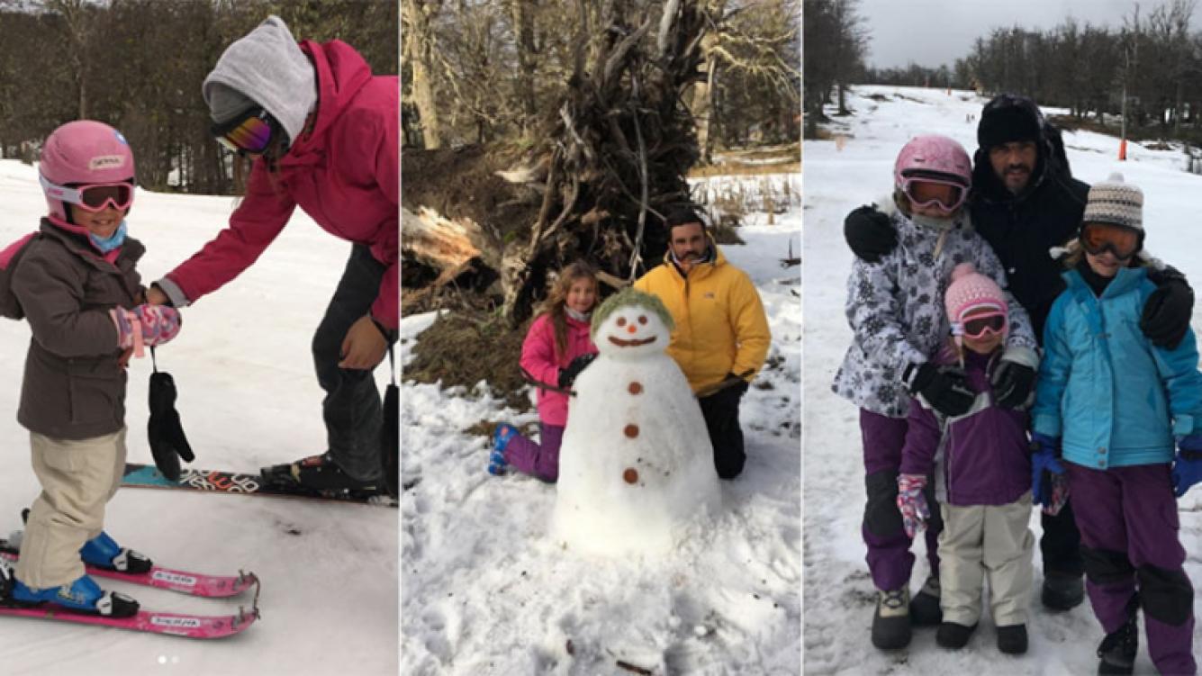 Las vacaciones de Fabián Cubero con sus hijas en la nieve (Foto: Instagram)