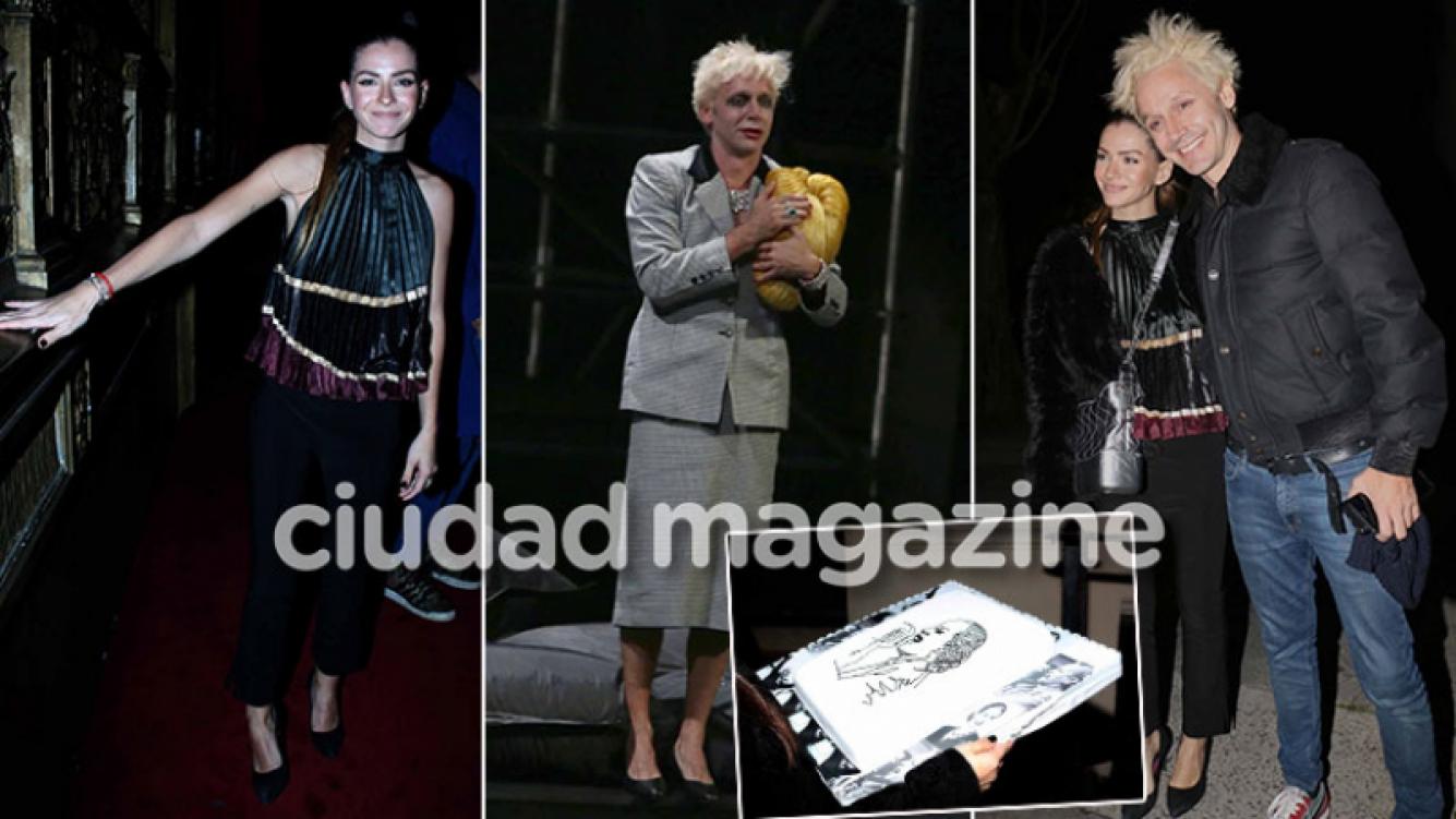 ¡Su fan N°1! China Suárez, junto a Vicuña en el estreno de Eva Perón. (Foto: Movilpress)