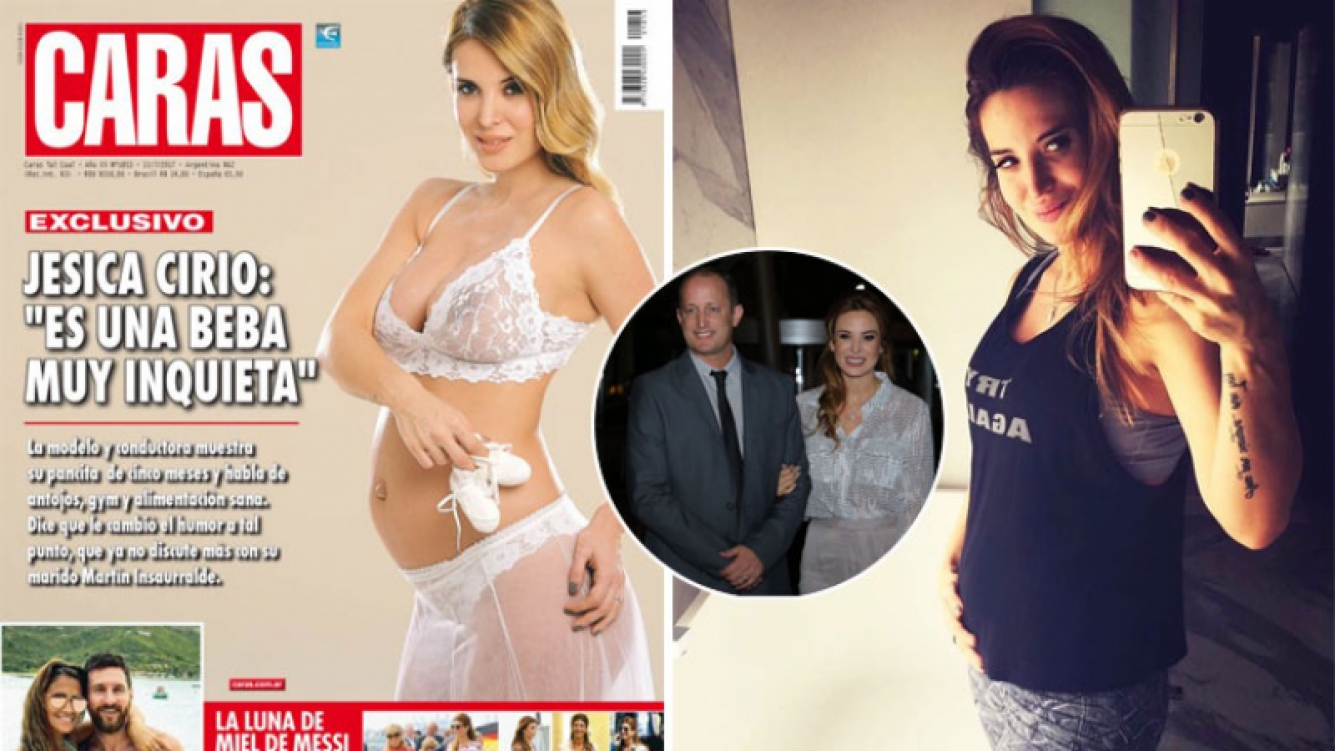 Jésica Cirio lució su pancita de embarazada. (Foto: revista Caras e Instagram)