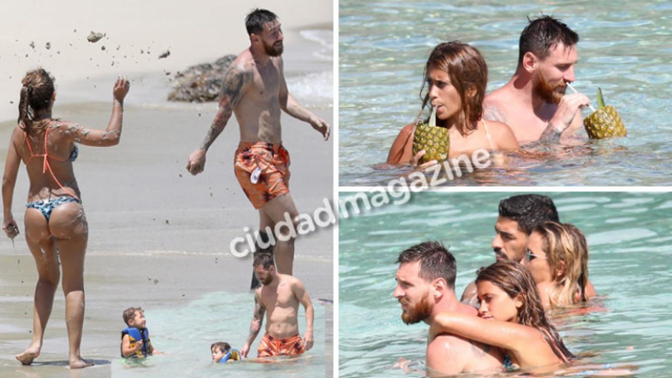 Antonela Roccuzzo y Lionel Messi de luna de miel. Foto: Grosby Group.
