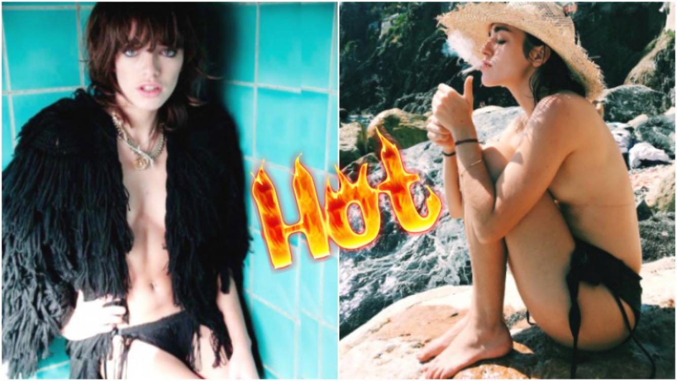 La foto en topless de Belén Chavanne, una de las diosas que impactó con su belleza en Casi Ángeles (Fotos: Web e Instagram)