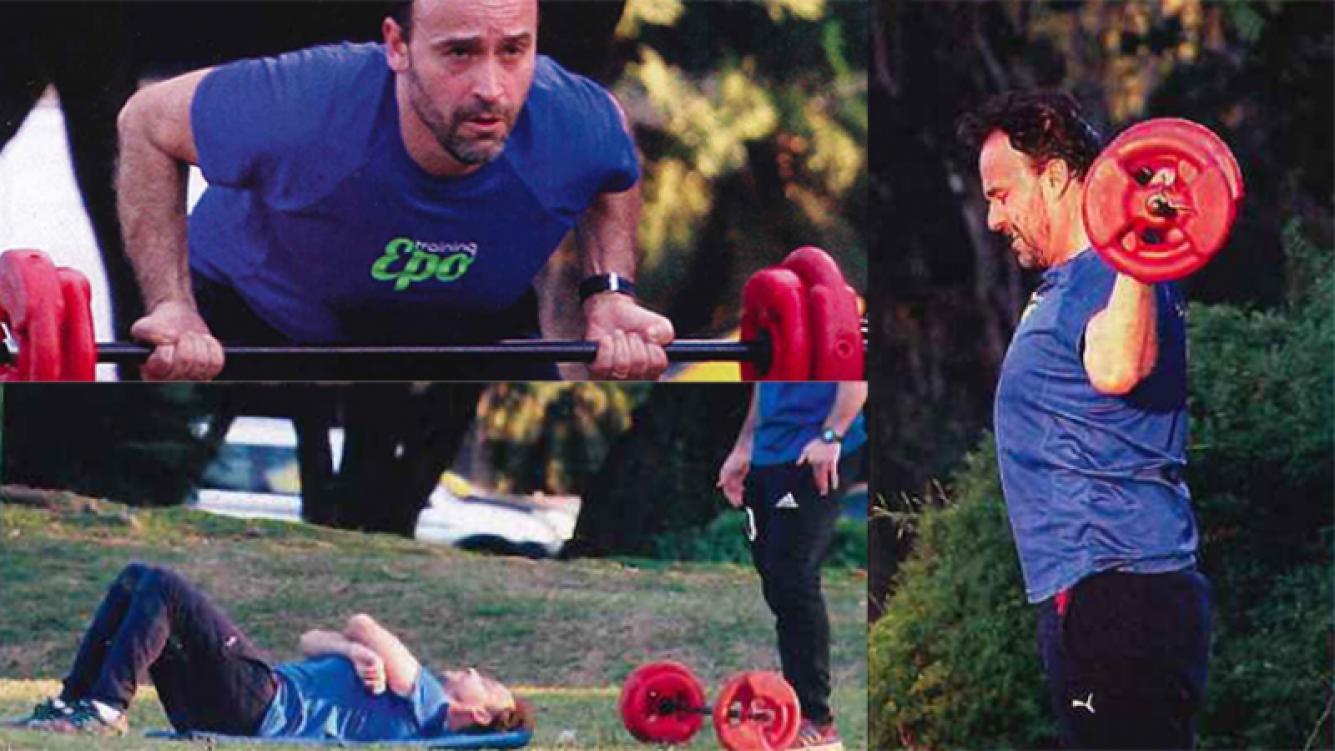 Adrián Pallares y su sesión de ejercicios en Palermo (Fotos: Paparazzi).